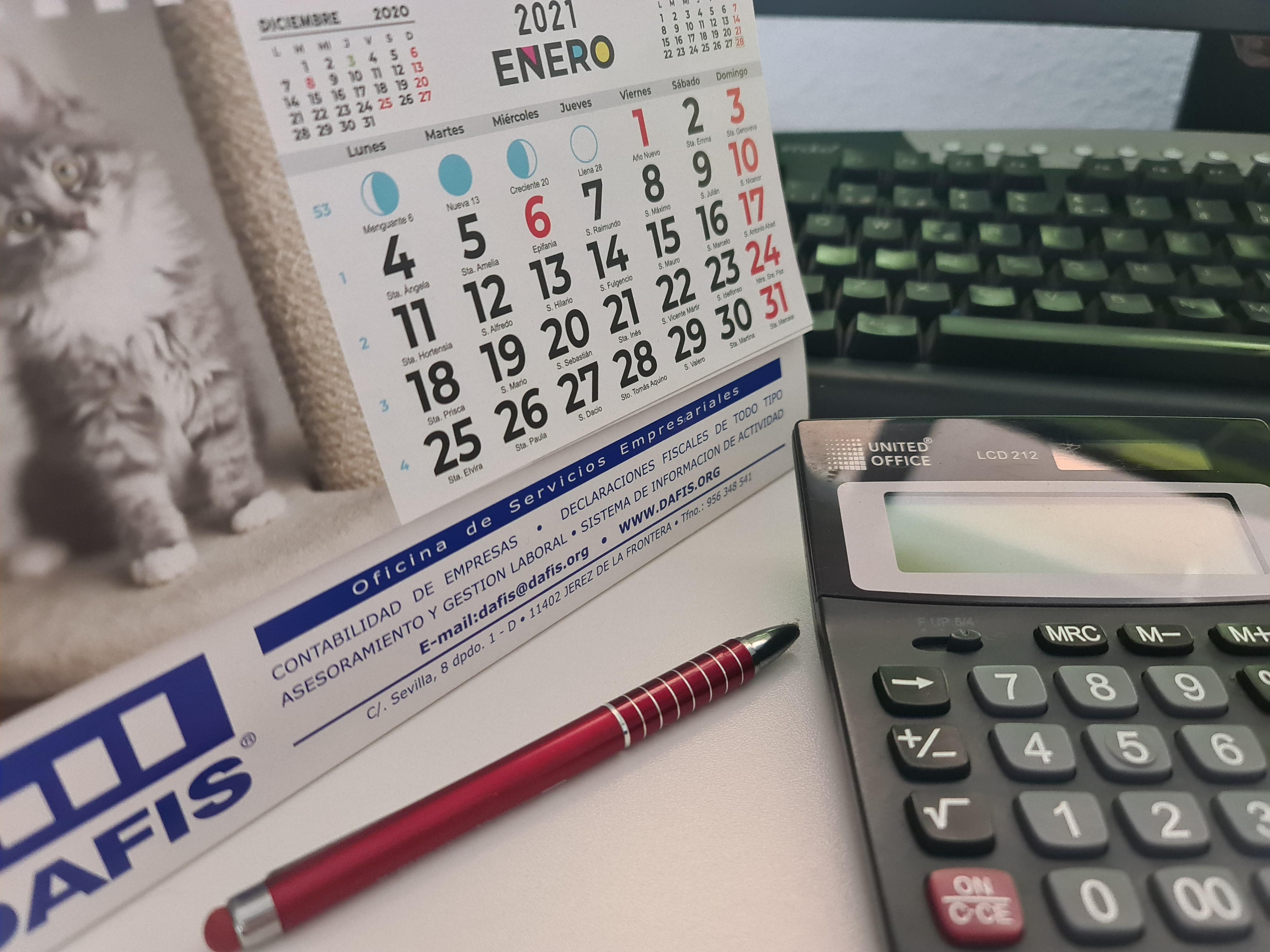 Las fechas más importantes del calendario fiscal de 2021 para pymes y autónomos